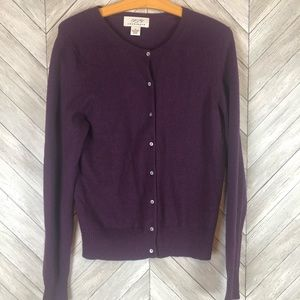 Button Front Cashmere Sweater XL